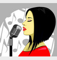 attractive beautiful lady concept vector image