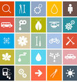 Flat Design Square Icons Set vector image