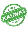 Kaunas green stamp vector image