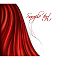 brightly lit red curtain background vector image vector image