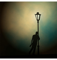 Streetlight drunk vector image