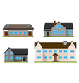 Set of flat house Home vector image