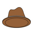 bowler hat design vector image