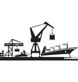 Cargo terminal port vector image