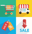 E-commerce Business concept Set icons vector image