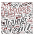 Fitness Trainer Boredom Busters text background vector image