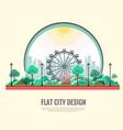 flat style modern design of public park landscape vector image