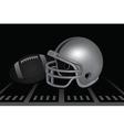 Football helmets vector image