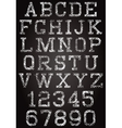 retro font and set of digits vector image