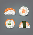 sushi set realistic icon vector image