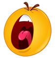 shouting emoticon vector image