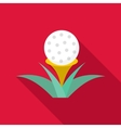 Golf ball icon flat style vector image