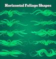 foliage shapes vector image vector image