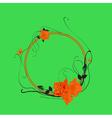 elegant floral frame vector image vector image
