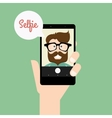 Cute Selfie background vector image