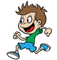 boy run vector image