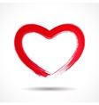 Valentines Day card with painted heart vector image