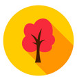 autumn tree circle icon vector image