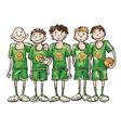 basketball team vector image