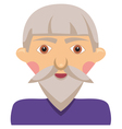 Cartoon elderly man vector image