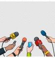 Journalism concept in pop art vector image