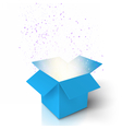 Magic Open Box Magic Gift Box with Light vector image