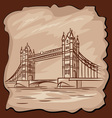 old Tower bridge vector image