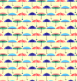 seamless pattern with a set of textured umbrelas vector image