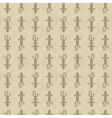 Seamless pattern with gecko vector image