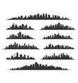 urban cityscape silhouettes vector image