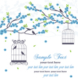 wedding invitation card with bird vector image