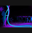dance party background vector image