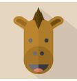Modern Flat Design Horse Icon vector image