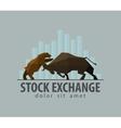 stock exchange business finance flat vector image