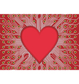 red electronic circuit board heart vector image vector image