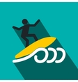 Surfing flat icon vector image