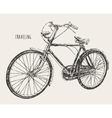 Bicycle High Detail Traveling Engraving Vintage vector image
