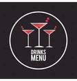 drink menu alcoholic cocktail manhattan vector image