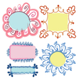 Floral frames set vector image
