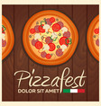 italian pizza background pizza flat design flat vector image