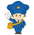 mail carrier vector image