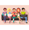 people and technology banner vector image
