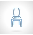 Seat blue flat line icon vector image