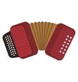 single accordion icon vector image