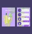 wine choice and menu card vector image