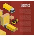Logistics isometric concept with warehouse vector image