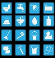 bathroom and toilet icon set basic style vector image vector image