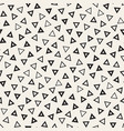 trendy texture with scattered geometric shapes vector image