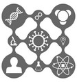 science icon set on smooth grid vector image vector image