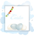 Easter panel with eggs and bunting vector image